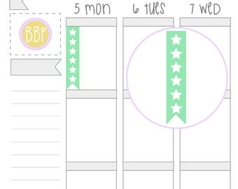 Multicolour 6 Star Checklists   Planner Stickers   002