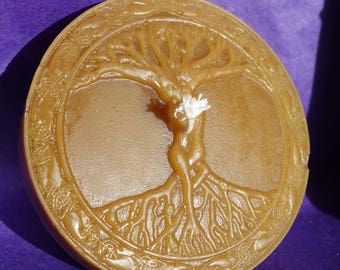 pure beeswax - tree of life candle