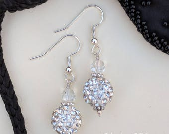 Sparkling crystal drop earrings