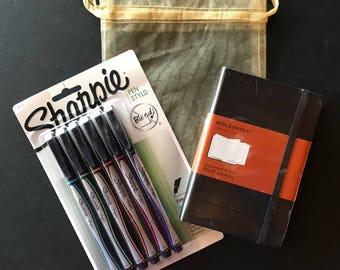 Japanese Moleskine and Sharpie Fineliner Gift Set