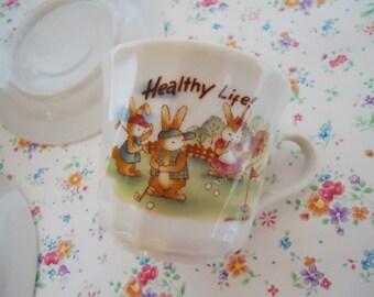Two Japanese Kawaii Tea Cup. 80s