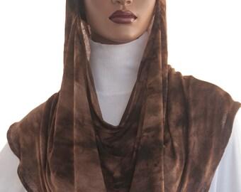 Koul SHôl Hoodie™ Head Hoodie Veil Cowl Head Hoodie Tie Dye Jersey Knit New Style Hoodie Veil Hijab Accessory Handmade