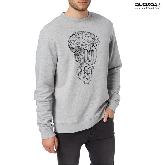 Mind and Spirit | Unisex Heavy Blend Crewneck Sweatshirt  | Graphic Sweatshirt | Pen and Ink art | Yoga shirt | Tattoo Style | ZuskaArt