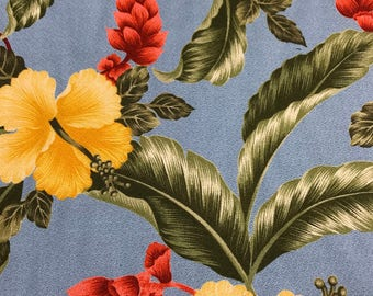 SALE!  Uphoplestery Hawaiian Print Canvas (Yardage Available)