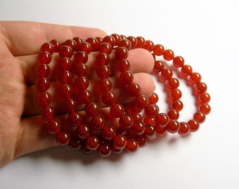 Carnelian - 8mm round beads - 23 beads - 1 set - A quality - HSG15