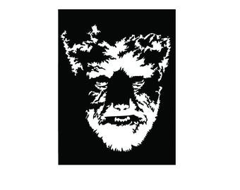 The Wolf Man vinyl decal sticker wolfman Werewolf Horror Classic Movie Monster