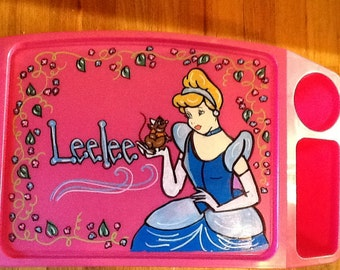 cinderella lap tray, cinderella art tray, cinderella activity tray, princess art tray, princess activity tray, Girls activity lap trays