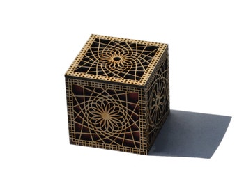 Spiro Lacy Laser Cut Box with Purple Heart Liner