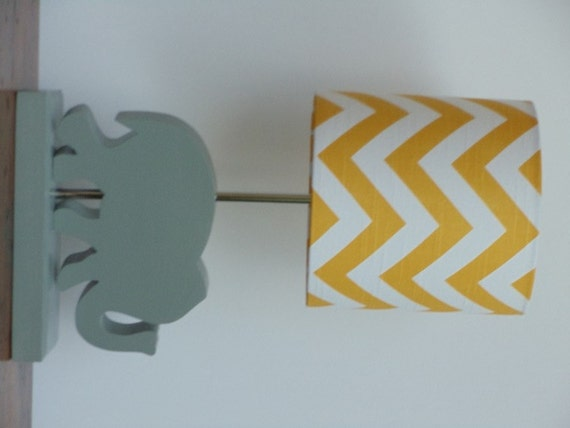 Small Yellowwhite Chevron Drum L Shade Nursery Orrhetsy: Small Lamps For Baby Bedroom At Home Improvement Advice