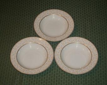 Vintage Mikasa Flora Peach L 5768 Soup bowls.