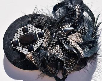 Fascinateur plume de velours noir