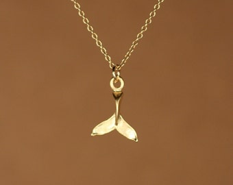 Lauren strunsee on etsy gold whale tail necklace whales tale whale tail necklace a 22k gold overlay whale tail on a 14k gold vermeil chain aloadofball Images