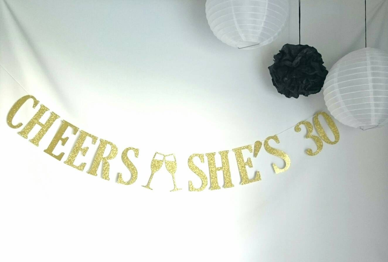 Cheers she s cheers to years banner th wedding