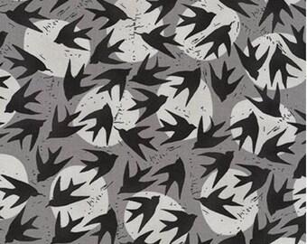 Kaufman - Valori Wells - Marks - Birds - Charcoal
