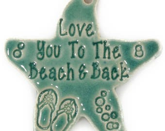 christmas ornaments christmas ornament coastal christmas beach ornament love you to the beach back handmade