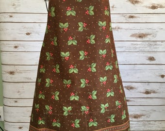 Cherries on chocolate full apron  FREE SHIPPING!! Reduced price!!