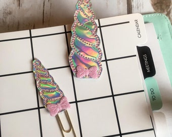 Unicorn Horn Planner Paperclip, planner accessories, unicorn planner accessory, unicorn planner clip, holographic planner paperclip, TN clip