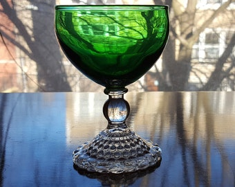 Green Bubble Stemware by Anchor Hocking Fire King