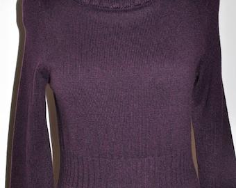 Ann Taylor Dark Purple Sweater Dress Super Soft  Size SP