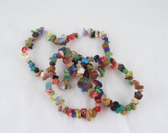Agnes  (Mutlti Gemstone Chip Elasticated Stretch Bracelet | Elasticated Bracelet | Chip Beaded Bracelet)