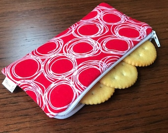 Red Circle Snack Bag--READY TO SHIP