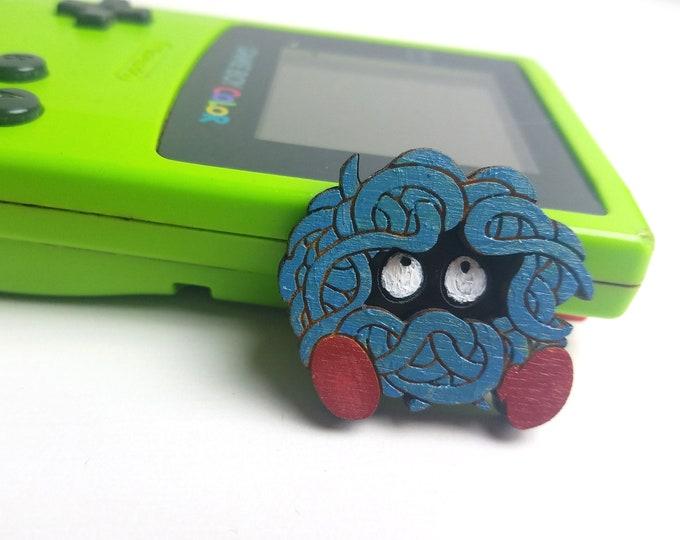 3D Layered Tangela Pokemon Inspired Pin | Laser Cut Jewelry | Handmade Pin | Wood Pin
