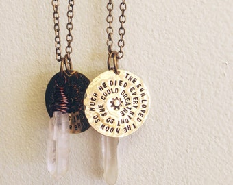 Sun Loved the Moon Crystal necklace