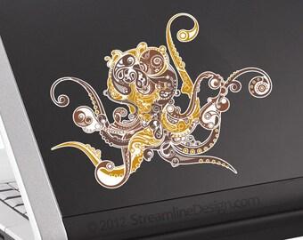 Ornate Octopus Laptop Decal | vinyl decal macbook decal car decal octopus decal octopus sticker tentacles kraken octopus decor nautical