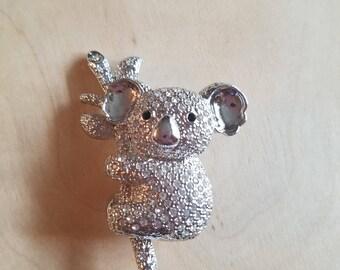 Koala Crystal Brooch