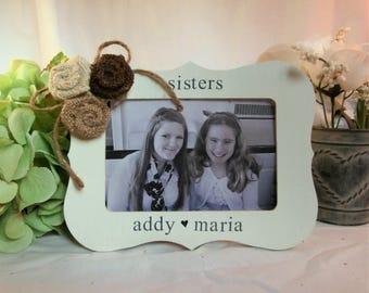 Personalized Sister gift from sisters frame 4 x 6, Personalized picture frame sisters with names