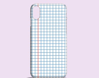 Squared Notebook phone case / school iPhone X case / iPhone 8 / iPhone 7 / Samsung Galaxy S7, Samsung S6, S6 Edge, S5 / iPhone 7 Plus