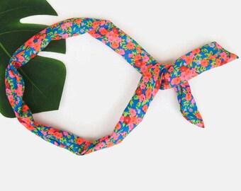 Bright Floral Headwrap
