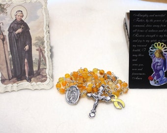 Bladder Cancer- Endometriosis- Liver Cancer- Missing Children- Spina Bifida- Awareness Rosary with St Peregrine Relic Rosary Center