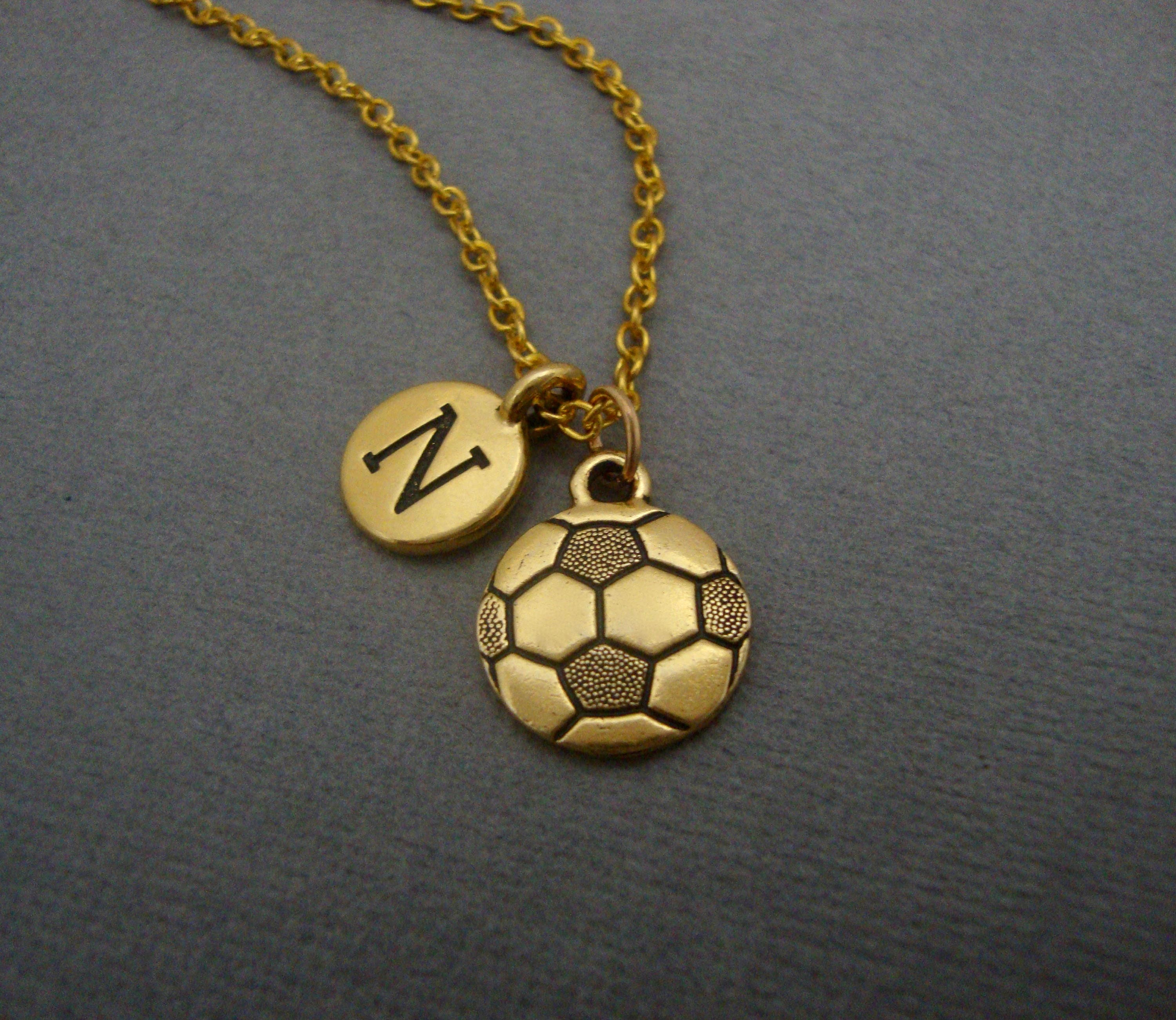 eli with image gold player white soccer products charm diamonds pendant