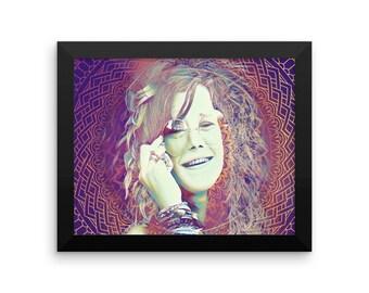 Framed Limted Edition  Janis Joplin poster