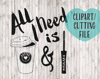 coffee svg, coffee clipart, svg files, svg cutting files, vector files, commercial use clipart, mascara svg, commercial svg, tshirt svg