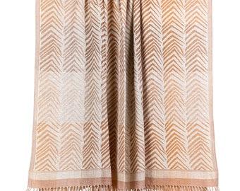 Contemporary Wool Silk Blend Throw