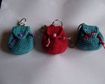 Crochet Mini Backpack Key Chain/Coin Purse