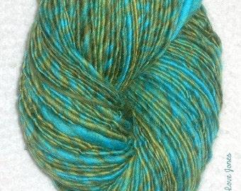 Water Lilies I - single ply - 149 yds - Art yarn - Weaving- Mixed Media - Knit - Crochet - Felt