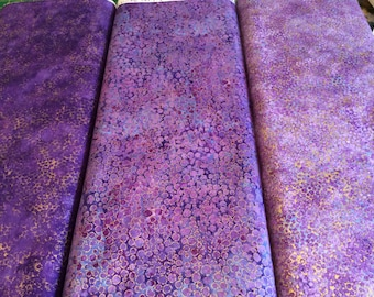"Northcott, ""Shimmer"" Purple, by the half yard"