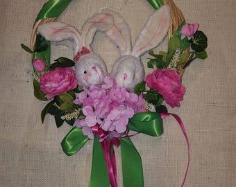 Garland flowers springs wreath Easter