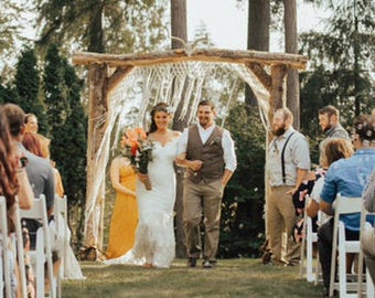 Large Handmade Macrame Wedding Backdrop for Events or Home Decor by The House Phoenix