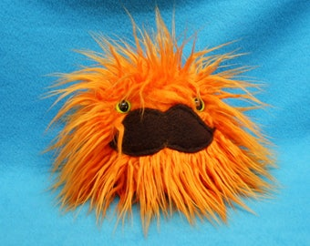 SALE Orange Mustache monster