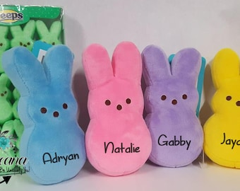 Easter peep etsy personalized plus easter peeps bunny easter gifts unique easter gift custom bunny negle Gallery