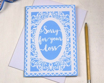 Sorry For Your Loss Sympathy Card, Thinking of you cards, Sympathy Card, Loss, sku_WP029