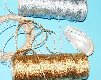 Solid Gold or Silver Bakers Twine for Gifts, Craft projects etc