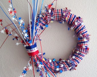 Hand-made, Patriotic wreath