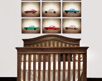 Vintage Matchbox Cars, Set of Nine Photo prints, Nursery Decor, Rustic Decor Toy Cars, Baby room ideas, Boys Room Decor,