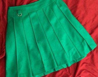 60s kelly green wool mini