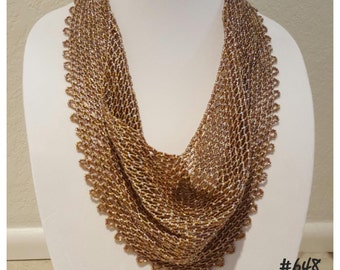 Solid Netted Beaded Scarf Pattern